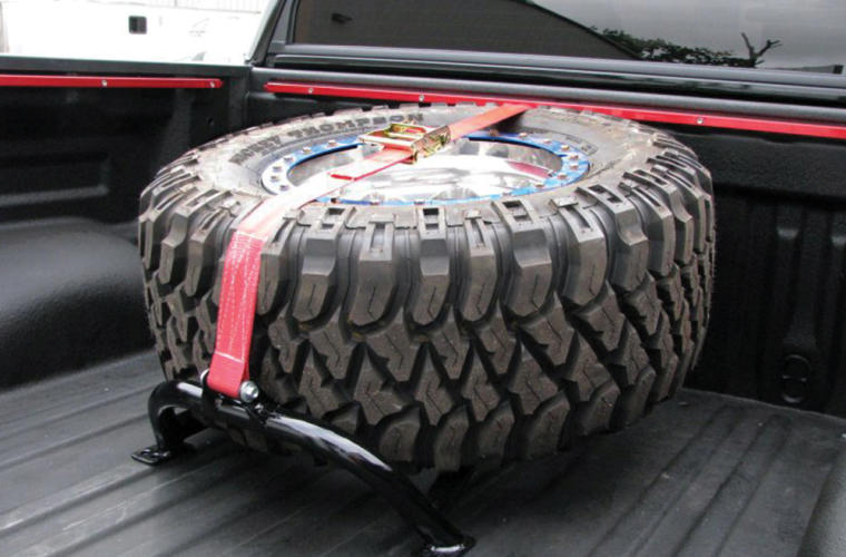 N-Fab Bed Mounted Tire Carrier